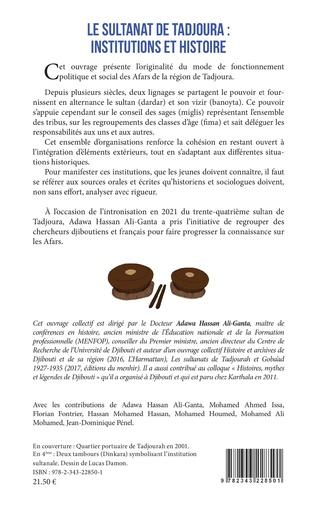 4eme Le sultanat de Tadjoura : institutions et histoire