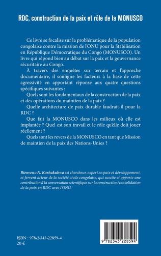 4eme RDC, construction de la paix et rôle de la MONUSCO