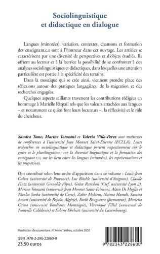 4eme Sociolinguistique et didactique en dialogue