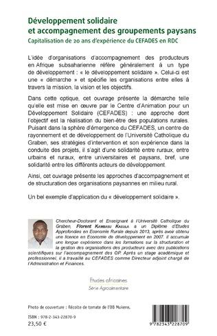 4eme Développement solidaire et accompagnement des groupements paysans