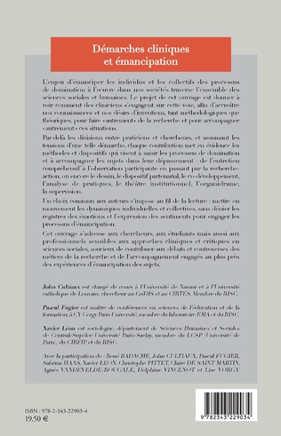 4eme Démarches cliniques et émancipation