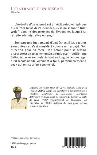 4eme L'itinéraire d'un rescapé. Mémoires.