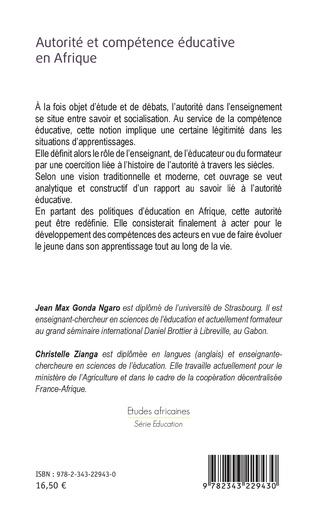 4eme Autorité et compétence éducative en Afrique