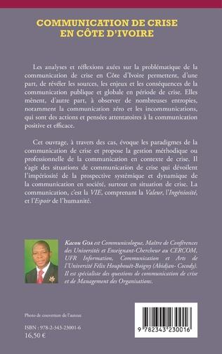 4eme Communication de crise en Côte d'Ivoire