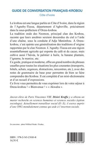 4eme Guide de conversation français-krobou. Côte d'Ivoire