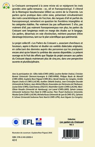 4eme Le Croissant linguistique : entre oc, oil et francoprovençal