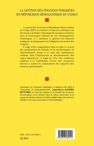4eme La gestion des finances publiques en République démocratique du Congo