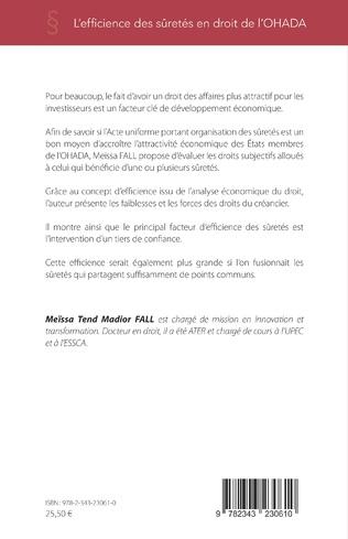 4eme L'efficience des sûretés en droit de l'OHADA