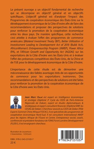 4eme Les relations de coopération économique entre les Etats-Unis et la Côte d'Ivoire de 2012 à 2017