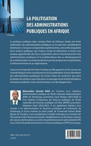 4eme La politisation des administrations publiques en Afrique