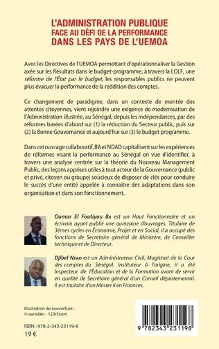 4eme L'administration publique face au défi de la performance dans les pays de l'UEMOA