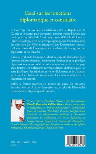 4eme Essai sur les fonctions diplomatique et consulaire. Expérience d'un diplomate guinéen