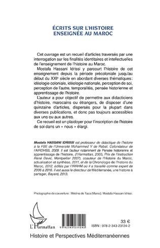 4eme Ecrits sur l'histoire enseignée au Maroc