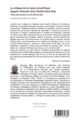 4eme La critique de la raison scientifique égypto-africaine chez Cheikh Anta Diop