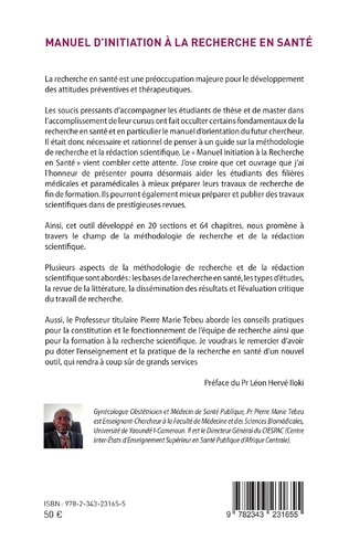 4eme Manuel d'initiation à la recherche en santé