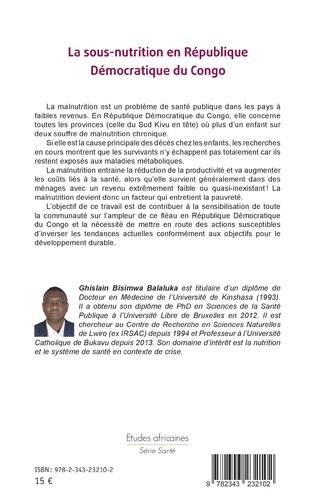 4eme La sous-nutrition en République Démocratique du Congo