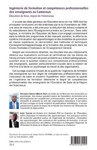 4eme Ingénierie de formation et compétences professionnelles des enseignants au Cameroun.