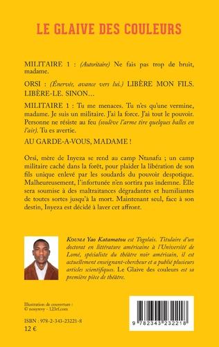 4eme Le glaive des couleurs. Théâtre