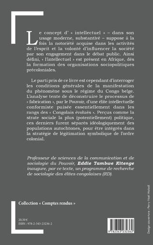4eme Pouvoir et intellectuels en République Démocratique du Congo sous le régime colonial