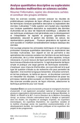 4eme Analyse quantitative descriptive ou exploratoire des données multivariées en sciences sociales