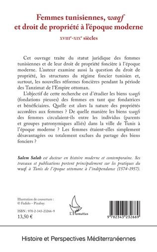4eme Femmes tunisiennes, <em>waqf</em> et droit de propriété à l'époque moderne
