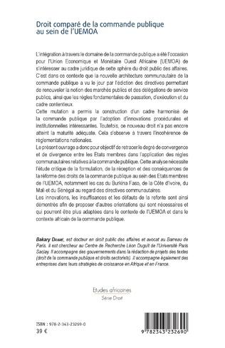 4eme Droit comparé de la commande publique au sein de l'UEMOA