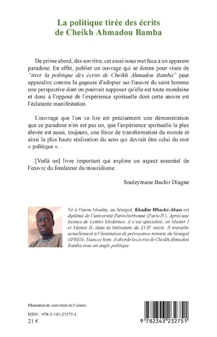 4eme La politique tirée des écrits de Cheikh Ahmadou Bamba