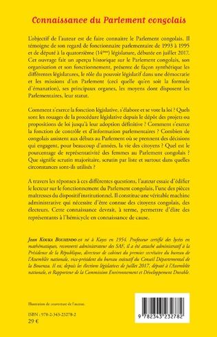 4eme Connaissance du Parlement congolais
