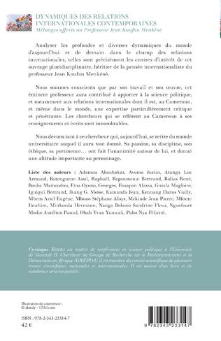4eme Dynamiques des relations internationales contemporaines