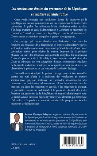4eme Les conclusions écrites du procureur de la République en matière administrative