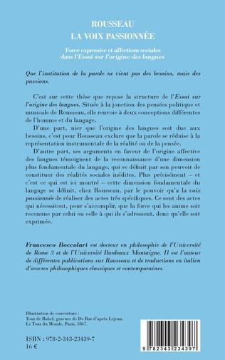4eme Rousseau, la voix passionnée