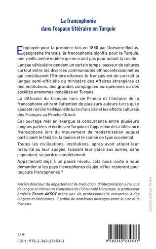 4eme La francophonie dans l'espace littéraire en Turquie