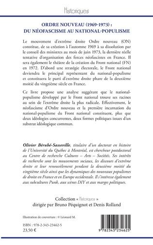 4eme Ordre nouveau (1969-1973) :