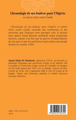 4eme Chronologie de ma douleur pour l'Algérie