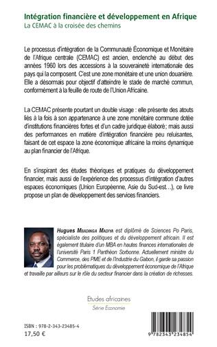 4eme Intégration financière et développement en Afrique La CEMAC à la croisée des chemins