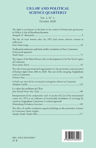 4eme UB Law and Political Science Quarterly