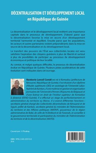 4eme Décentralisation et développement local en République de Guinée