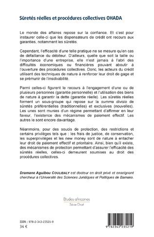 4eme Sûretés réelles et procédures collectives OHADA