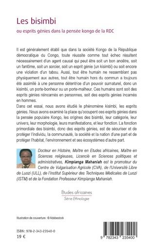 4eme Les bisimbi ou esprits génies dans la pensée kongo de la RDC