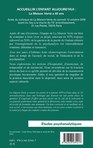 4eme Accueillir l'enfant aujourd'hui : La Maison Verte a 40 ans