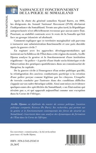 4eme Naissance et fonctionnement de la police au Somaliland
