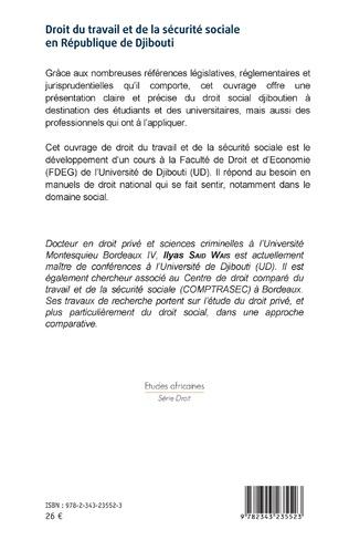4eme Droit du travail et de la sécurité sociale en République de Djibouti
