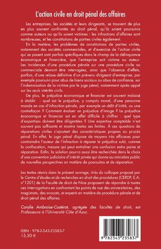 4eme L'action civile en droit pénal des affaires
