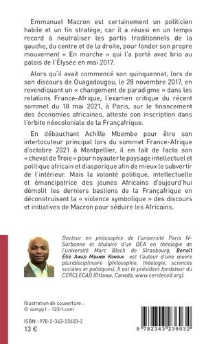 4eme Emmanuel Macron, Achille Mbembe et la Françafrique