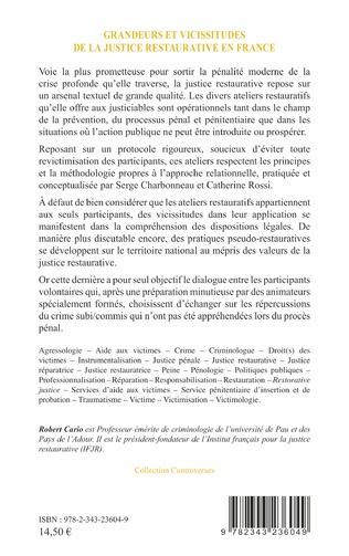 4eme Grandeurs et vicissitudes de la justice restaurative en France