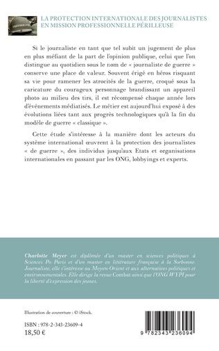 4eme La protection internationale des journalistes en mission professionnelle périlleuse