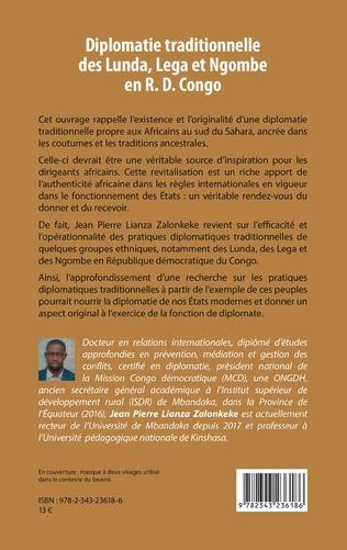 4eme Diplomatie traditionnelle des Lunda, Lega et Ngombe en R. D. Congo