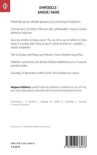 4eme Empédocle : amour/haine