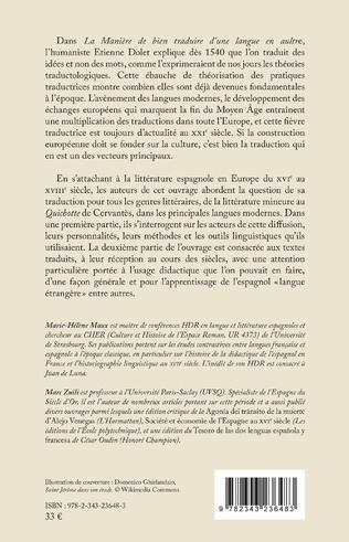 4eme Les traductions de la littérature espagnole (XVIe-XVIIe siècle)
