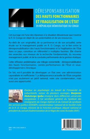 4eme Déresponsabilisation des hauts fonctionnaires et fragilisation de l'État en République démocratique du Congo